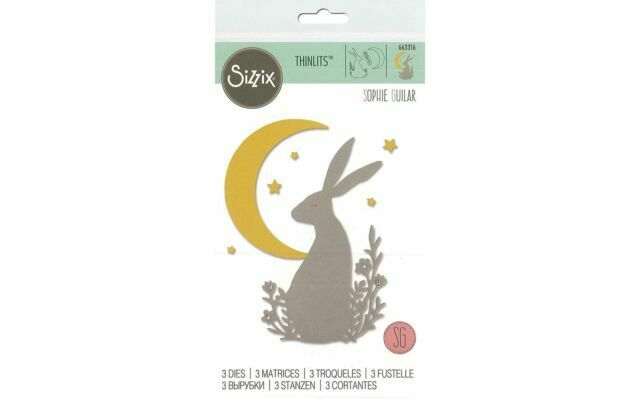 3PK Midnight Hare 663316 Sophie Guilar Sizzix Thinlits Die Set