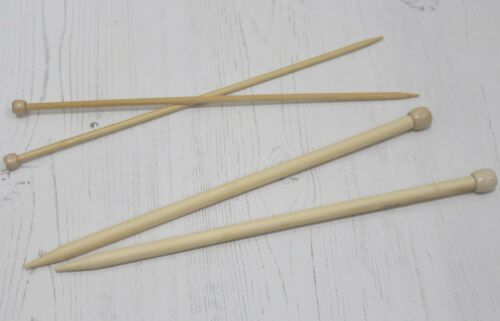 Bamboo Knitting Needles Whitecroft Essentials Knit Pins 10 Sizes in 35cm Length