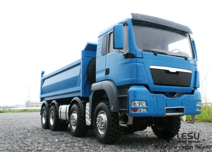 LESU Full Metal 8x8 hidráulico camión listo para correr, camión de mejor calidad, envío USA