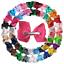 XIMA 25pcs 4in Grosgrain Ribbon Baby Boutique Hair Bows Clips Hair Accessories