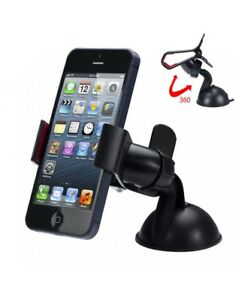 SUPPORT-VOITURE-UNIVERSEL-TELEPHONE-MOBILE-PARE-BRISE-VENTOUSE-GPS-ROTATION-360