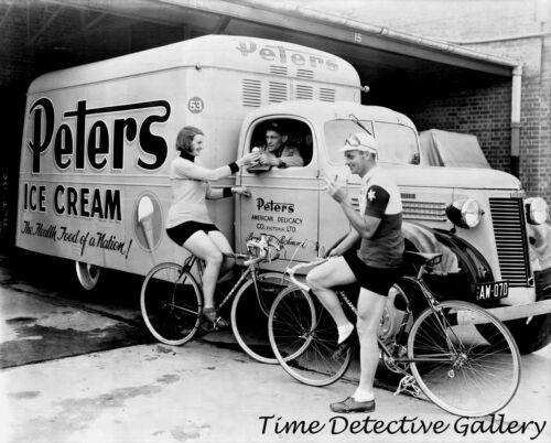Peters Ice Cream Van Historic Photo Print 1940s