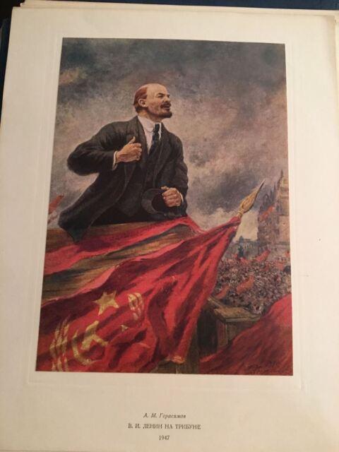 KB) Soviet Union Tretiakov Lenin Communist Propaganda Art Portfolio w/ 65 Prints