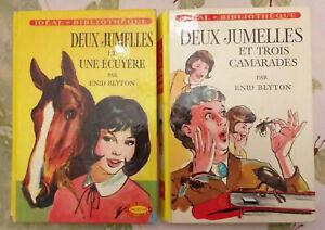 2-livres-Ideal-bibliotheque-LES-DEUX-JUMELLES-Enyd-BLYTON