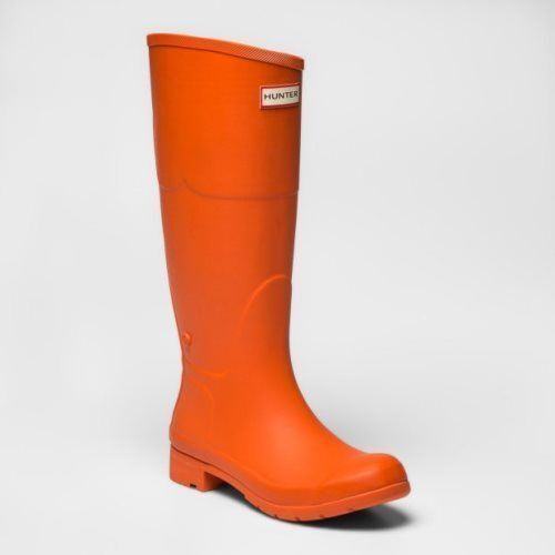 77343d17633 Hunter Rubber Tall Rain Boots Orange Women's Size 11 Made for Target NEW