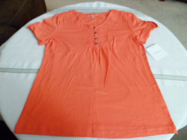 Women S Croft Barrow Coral Bay Top Blouse Shirt Xs W Tags Gift For