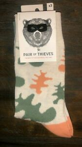 3-Pack-New-Pair-of-Thieves-Men-Crew-Socks-Pattern-Multi-colored-Size-8-12
