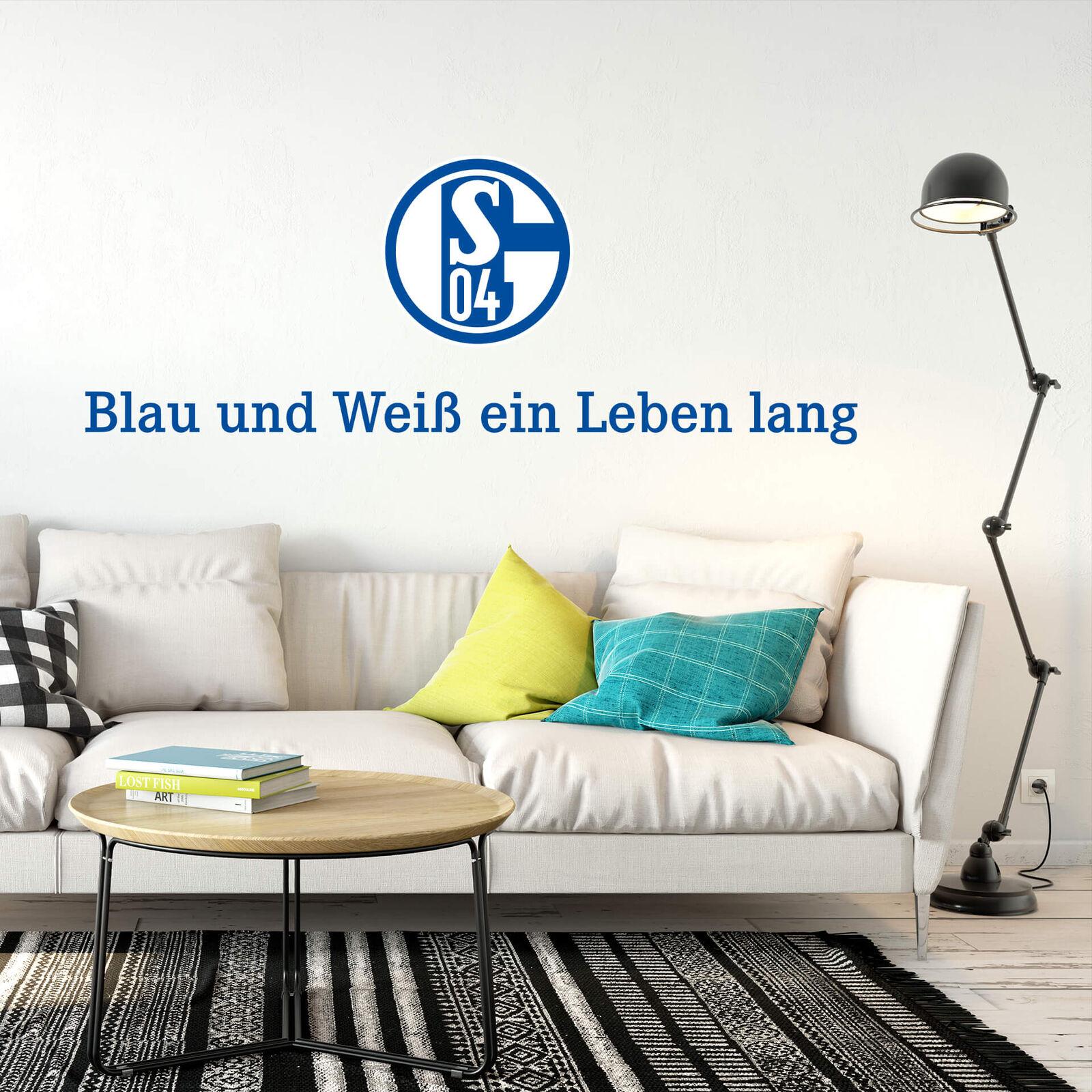 Wandtattoo Schalke 04 Blau und Weiß ein Leben lang lang lang Fanartikel Fanshop S04 Deko e8587f
