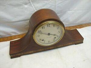 Seth Thomas Lynton - IW E514 Tambour Camel Back Shelf Hour Chime Clock