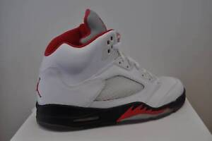 645bb82dc541b6 Image is loading Nike-Air-Jordan-V-5-Retro-White-Fire-