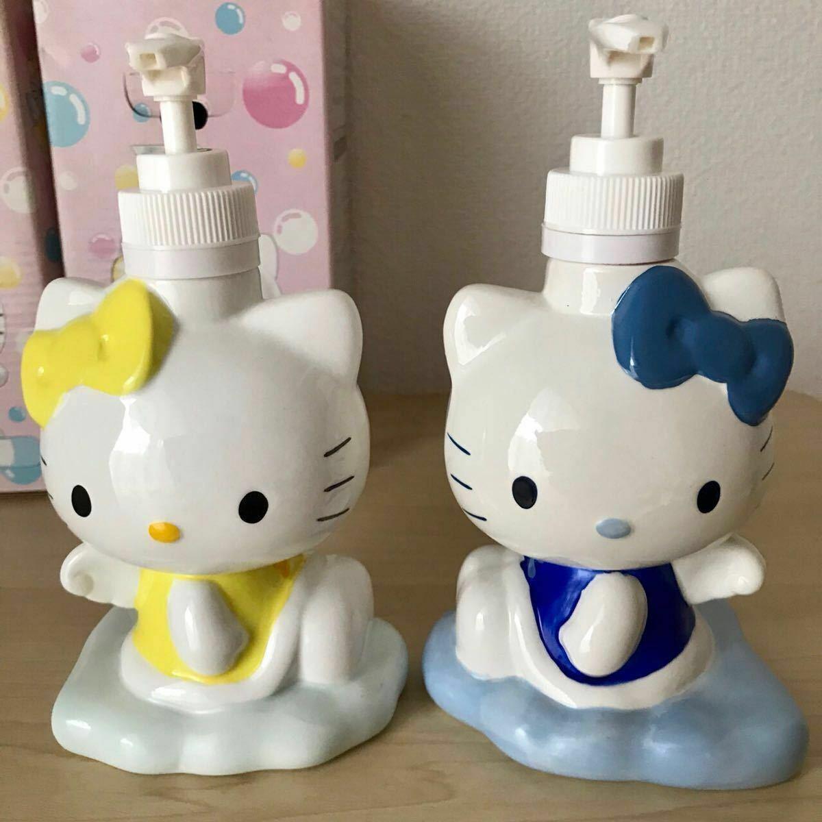 Hello Kitty & Mimmy Jabón Botella Par Set de Ángel Pottery 2004 Sanrio Japón F