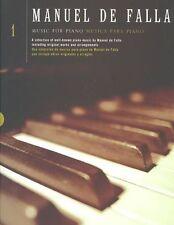 Manuel De Falla: Music for Piano: v. 1 by Manuel De Falla (Paperback, 1996)