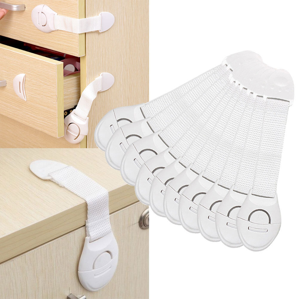 15x Toddler Baby Kids Child Safety Lock For Draw Cupboard Cabinet Fridge Door US 10