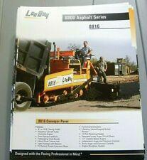 Factory Oem Dealership Brochure Leeboy 8816 Paver 1 07 Asphalt