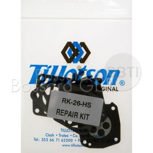 Tillotson Vergaser Reparatursatz RK-26HS für Echo Wacker BS 45 52 60 105 26-HS