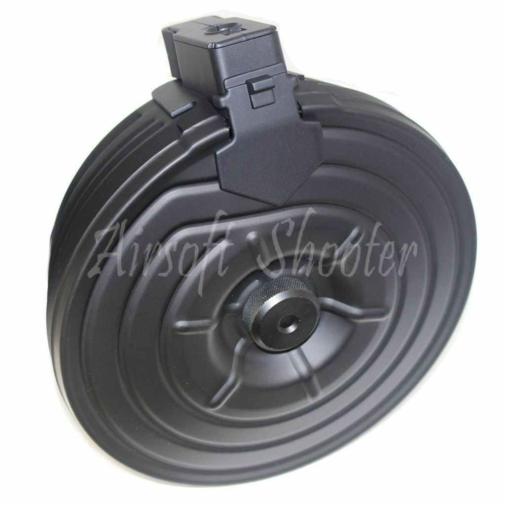 Airsoft Parts CYMA 2500rd Sheet Steel Electric Drum Mag Magazine For AK-Series
