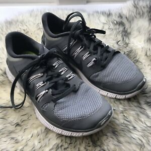 competitive price a26bb 4f3e4 Details about Nike Free 5.0 + Mens 7.5 Running Shoes Cool Grey Lightweight  Flexible Barefoot
