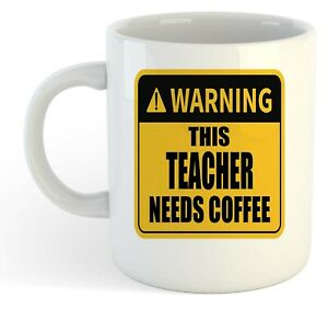 Warning-Esta-Maestro-Necesita-Cafe-Blanco-Taza-Regalo-Trabajo-Regalo