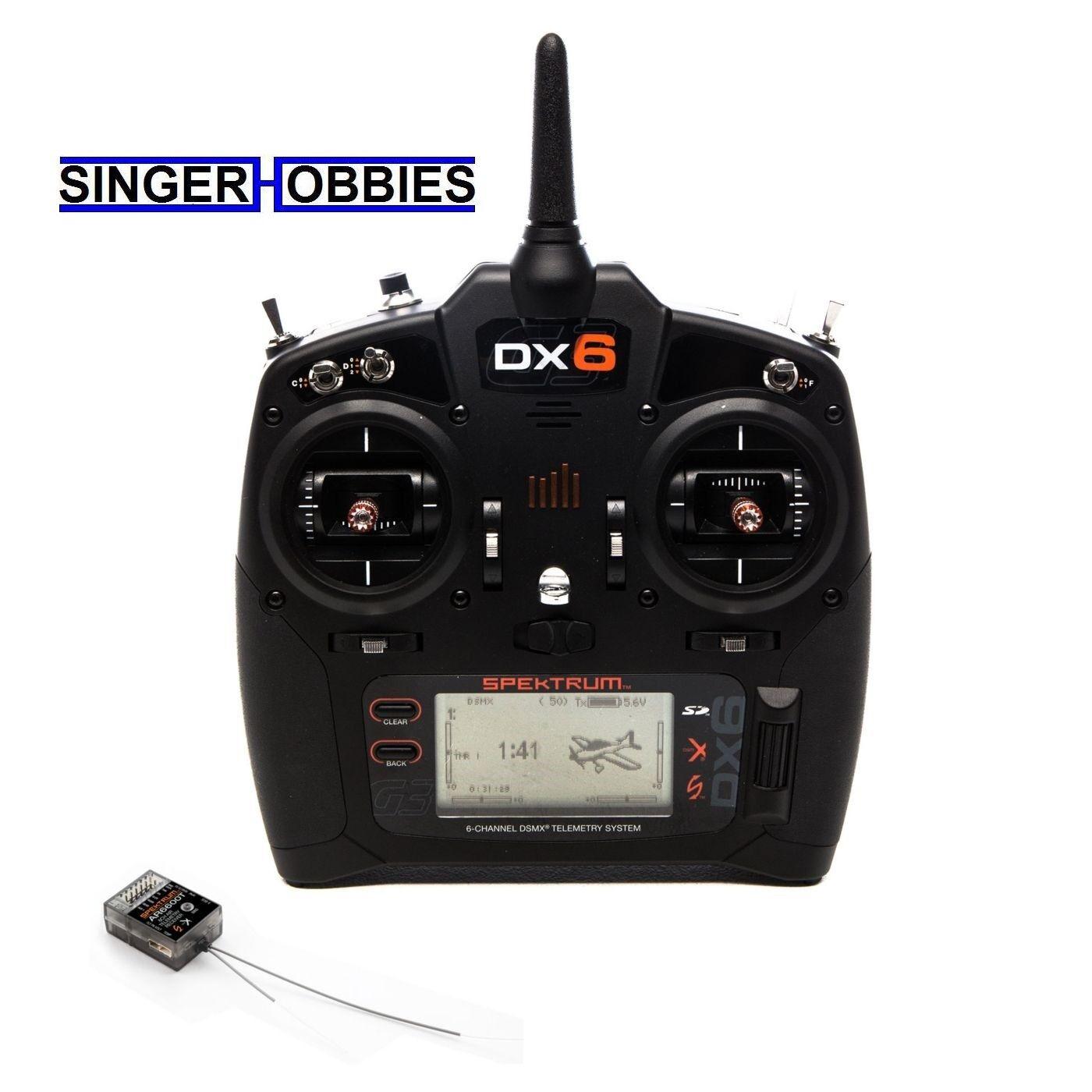 Spektrum DX6 6 Canales Dsmx Transmisor GEN 3 con AR6600T receptor SPM6755 Hh