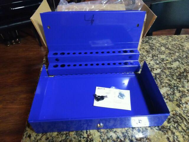 BK00216001 16-Inch Black Homak Plastic Tool Box with Metal Latches
