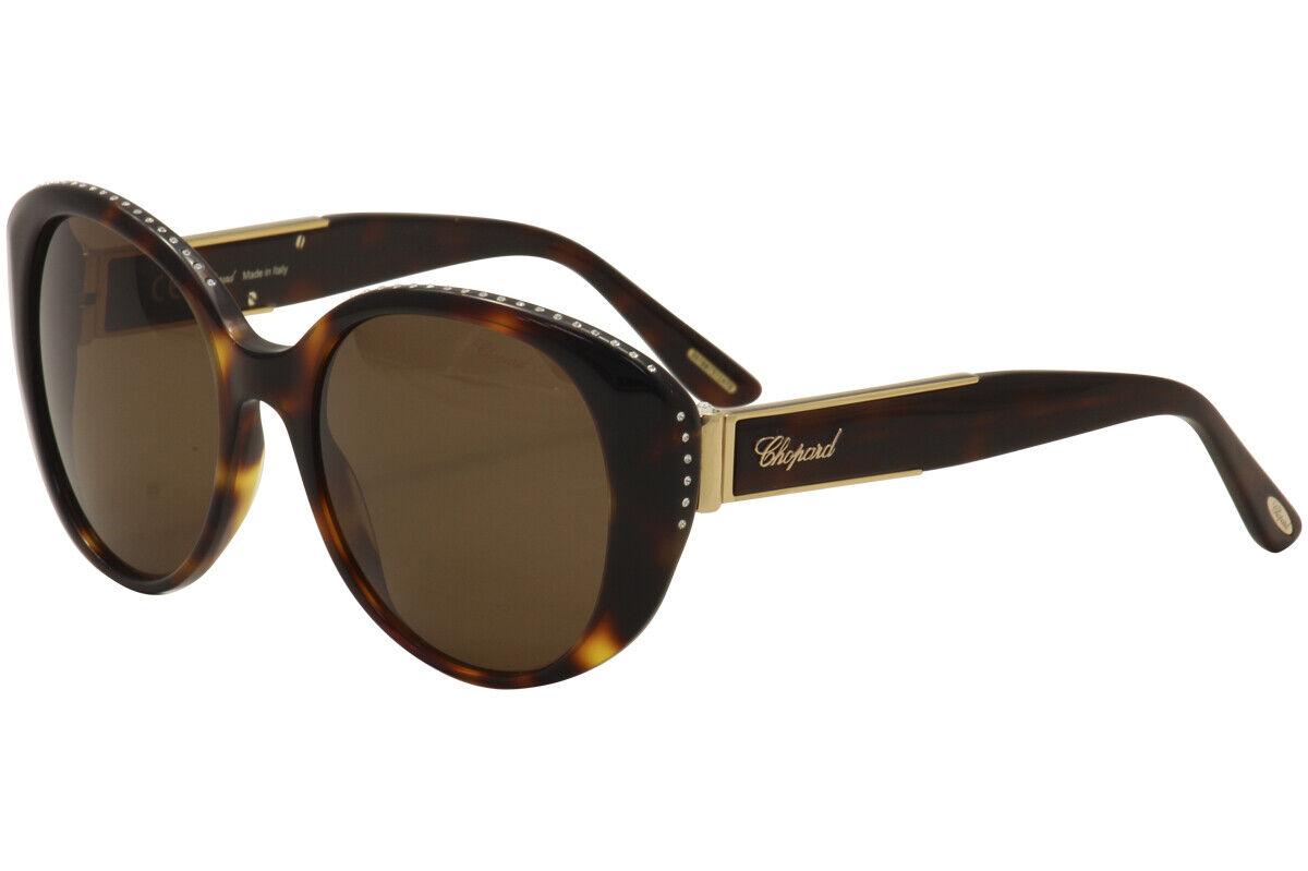 Chopard Women's SCH191S SC/H191S 0748 Tortoise/Gold Fashion Sunglasses 54mm