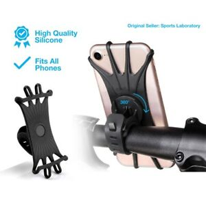 Motorcycle-MTB-Bicycle-Bike-Handlebar-Mount-Holder-Silicone-For-Cell-Phone-GPS