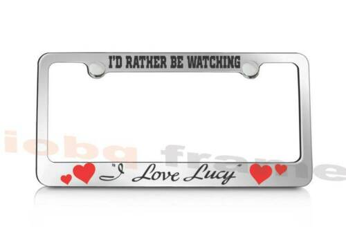 Free Caps I/'d rather be WATCHING I LOVE LUCY supreme license plate frame