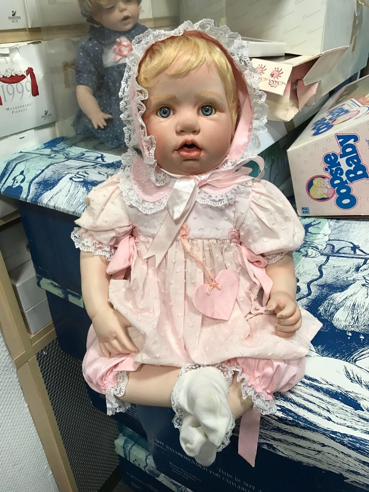 Hildegard Günzel muñeca de porcelana 53 cm. top estado