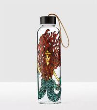 Starbucks 2017 Siren water bottle Flowing Hair Blue Mermaid Gold Crown