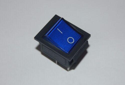 5 Pcs BLUE Light Illuminated 2 Position Boat Rocker Switch 6 Pin ON-ON 120V AC