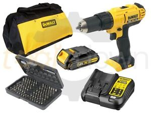 Dewalt-18v-XR-Cordless-Lithium-Combi-Drill-amp-Driver-With-Hammer-Action-Facility