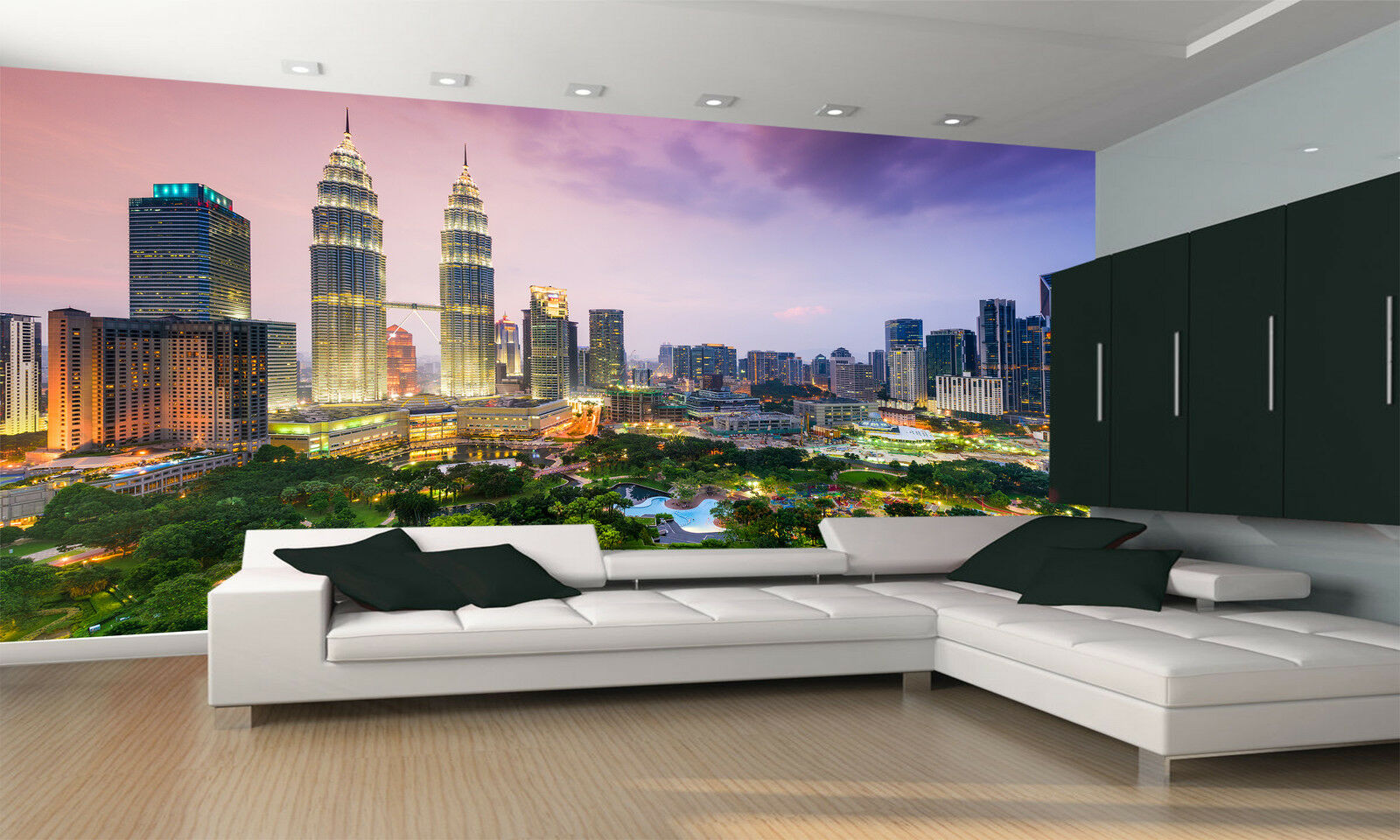 Photo Wallpaper Kuala Lumpur Skyline GIANT WALL DECOR PAPER POSTER FOR BEDROOM