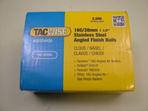 2nd fix Stainless Steel angled brad finish nails 16 gauge 38mm box of 2500