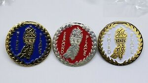 Number 3 lapel brass /& blue recognition pin Lot of 2 NEW