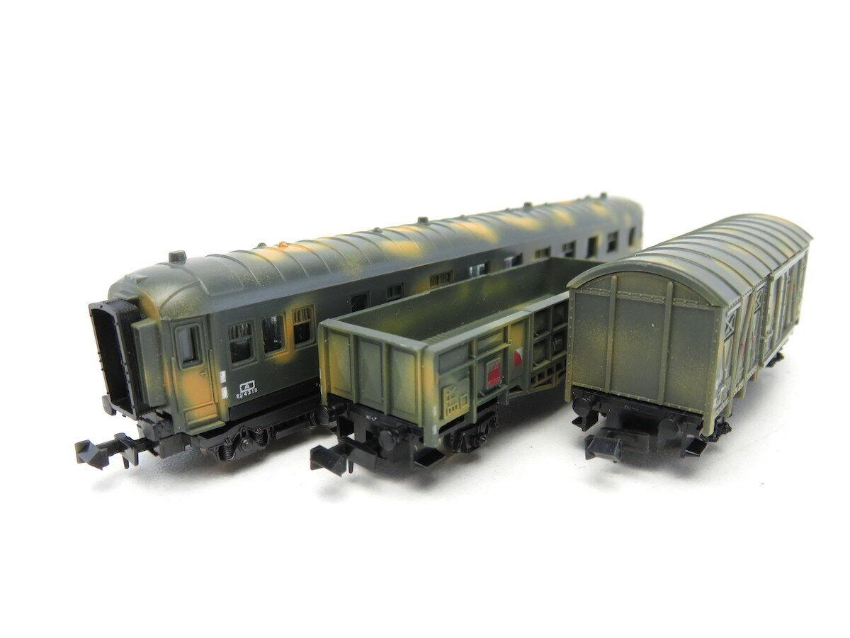 (VP466) Lima Konvolut DC N 3er-Set Militär-Güterwagen, Tarnfarbe, OVP