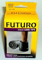 Futuro Pair Of Black Cane Tips Fits 3/4: Cane Washer Insert Maximize Durability