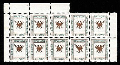 Block Of 10 1917 Korçë Autonomous Rep Fake? Quality And Quantity Assured Sc#54-1 C The Cheapest Price Albania