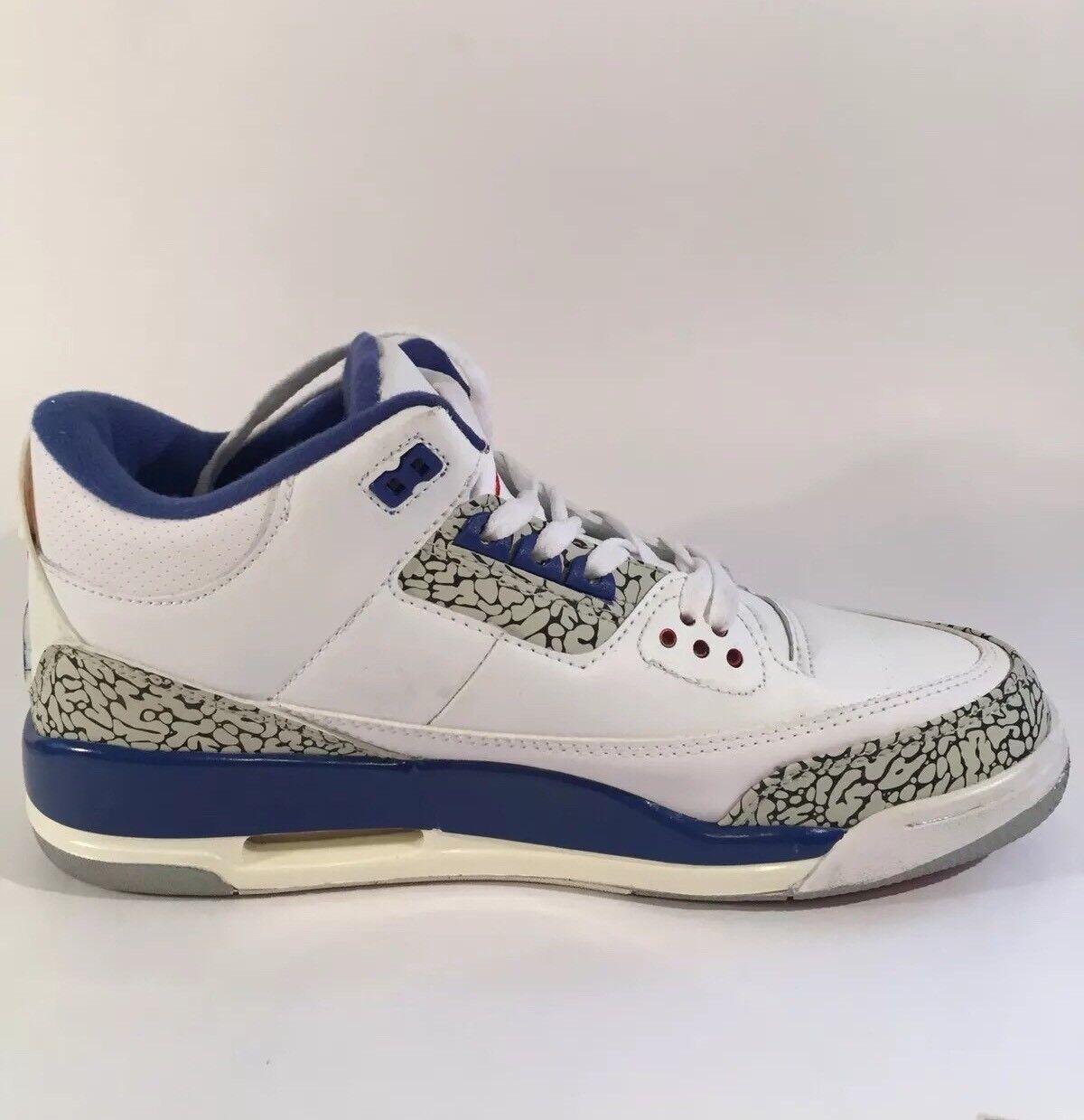 Nike Air Jordan Retro III 3 OG True Blue Men's Size 12 Athletic Shoes
