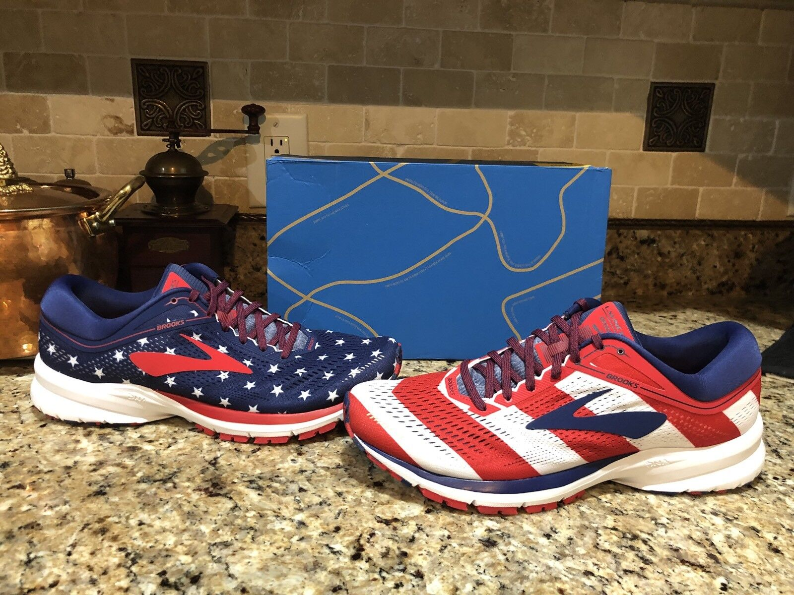 Brooks Launch 5 Victory Stars Stripes 4th USA Women's Running shoes NEW 10 1 2