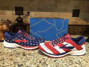 96e5f6ad1f0 Brooks Launch 5 Victory Stars Stripes 4th USA Women s Running Shoes ...