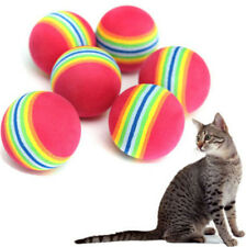 Colorful Pet Cat Kitten Soft Foam Rainbow Play Balls Activity Toys ~2PCs☆