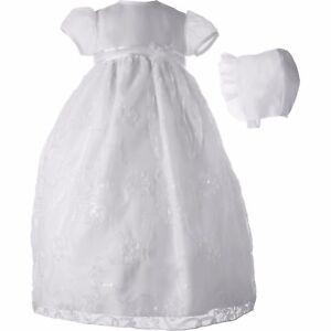 f10f7dd8a 0-3M Christening Baptism Newborn Baby Girl Special Occasion Organza ...