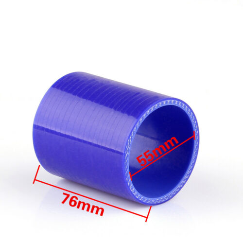 Straight 0 Degree 76 55mm Silicone Pipe Hose Coupler Intercooler Turbo Intake UK