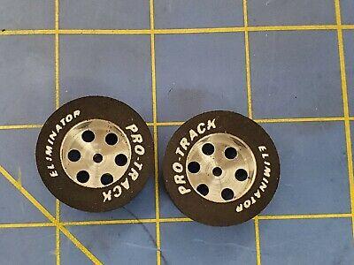 """Pro Track /""""TQ Custom/"""" 1//8/"""" x 1/"""" x .300 wd Rear 1//24 Slot Car Drag Tires"""