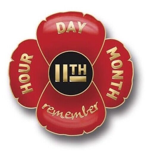 Remembrance Day Poppy Lapel Badge