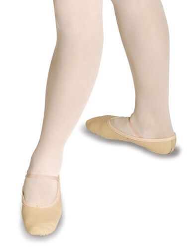 Black or White Attached elastic Pink Roch Valley Ophelia Leather Ballet Shoes
