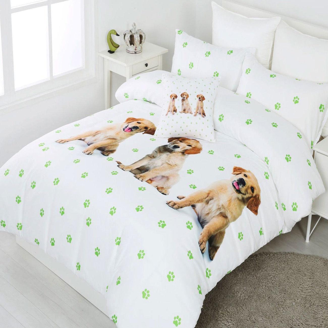 Spot the Dog Duvet   Doona   Quilt Cover Set   Labrador Puppy   Grün Paws