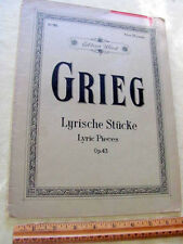 Vintage Piano music by Edvard Grieg - Lyrical Pieces, op. 54 and op. 43