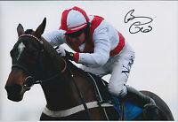Barry GERAGHTY SIGNED Jockey Autograph 12x8 Photo AFTAL COA Champion Hurdle