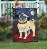 Toland - Chagrowl Pug - Puppy Dog Portrait Garden Flag